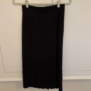 Free People Black Pencil skirt